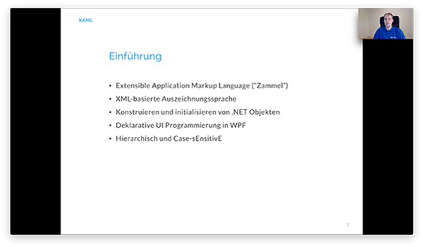 Video Schulung XAML